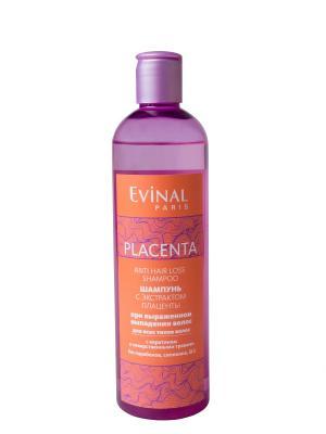 Шампунь с экстрактом плаценты при выраженном выпадении волос для всех типов EVINAL. Цвет: прозрачный