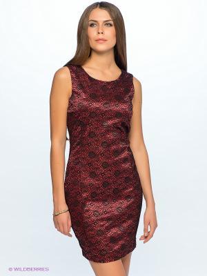 Платье Top Secret. Цвет: красный, черный