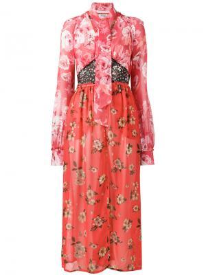 Платье с принтом beatriz Attico. Цвет: красный