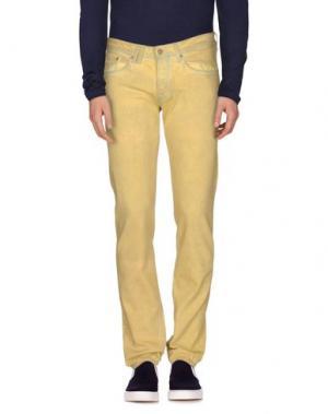 Джинсовые брюки CYCLE. Цвет: желтый