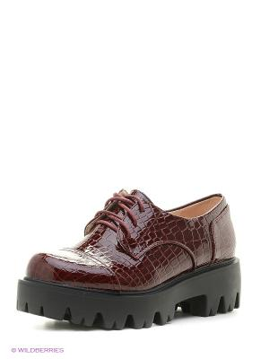 Ботинки Makfly. Цвет: бордовый
