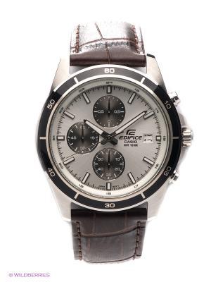 Часы EDIFICE EFR-526L-7A CASIO. Цвет: серебристый, темно-коричневый