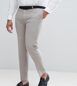 Noose & Monkey Зауженные брюки в стиле смокинга PLUS. Цвет: фиолетовый