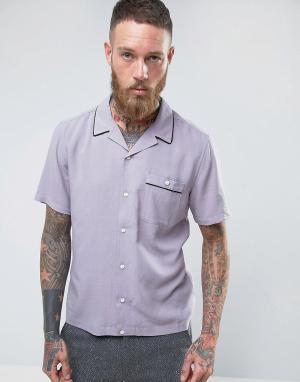 ASOS Фиолетовая классическая рубашка из вискозы с отложным воротником. Цвет: фиолетовый