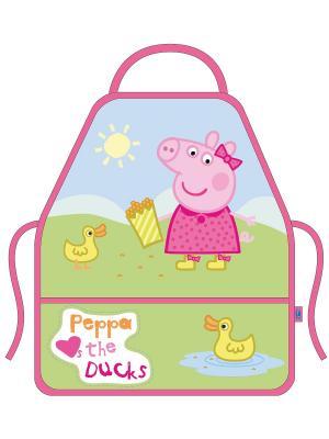 Фартук с нарукавниками Свинка Пеппа Утка Peppa Pig. Цвет: зеленый, голубой, розовый