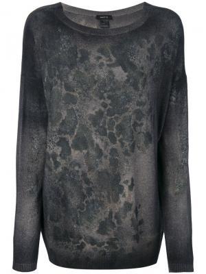 Джемпер с абстрактным принтом Avant Toi. Цвет: серый
