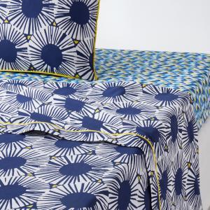 Простыня с рисунком, 100% хлопок, Blue Riviera La Redoute Interieurs. Цвет: белый/синий/желтый