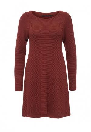 Платье Only. Цвет: коричневый