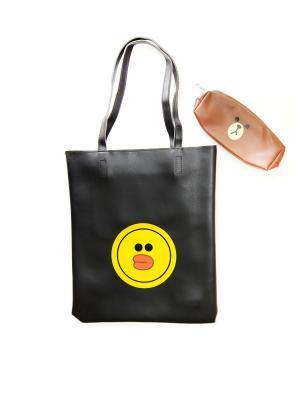 Пляжная сумка Lola. Цвет: черный, желтый