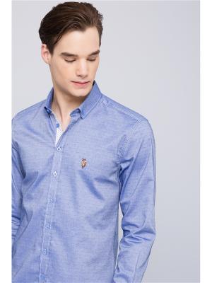 Рубашка U.S. Polo Assn.. Цвет: синий