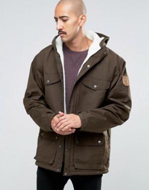 Fjallraven Зимняя куртка Greenland. Цвет: зеленый