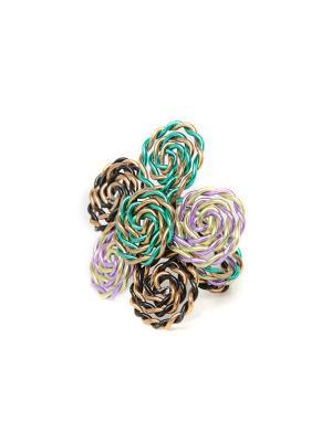 Кольцо из Перу Escudero Indira. Цвет: хаки, серый, темно-бежевый