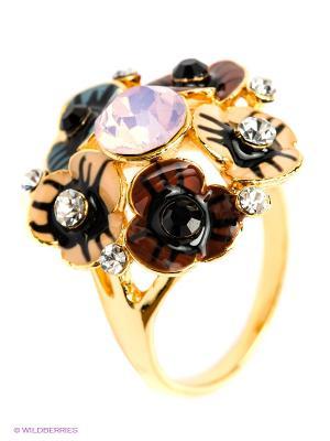 Кольцо Royal Diamond. Цвет: синий, коричневый, бежевый