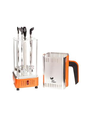 Шашлычница Kitfort KT-1403, 1000 Вт. Цвет: оранжевый