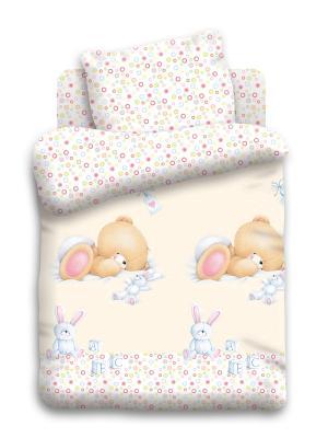 Комплект постельного белья Forever Friends. Цвет: бледно-розовый, персиковый