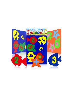 Игрушка для ванны аква Рыбки-Цифры БОМИК. Цвет: синий, зеленый, красный