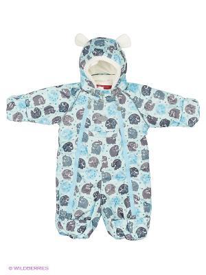 Комбинезон для малыша REIKE. Цвет: голубой, светло-серый