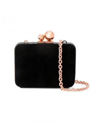 Бархатная сумка на плечо Sophia Webster. Цвет: чёрный