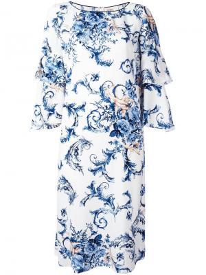 Платье с оборками Antonio Marras. Цвет: белый