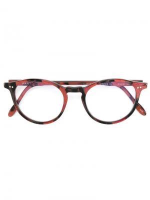 Солнцезащитные очки с круглой оправой Pantos Paris. Цвет: чёрный