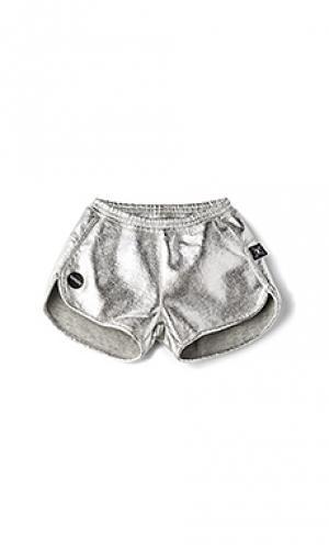 Спортивные шорты Nununu. Цвет: металлический серебряный