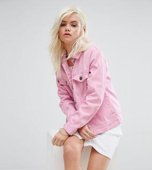 Daisy Street Petite Джинсовая куртка. Цвет: розовый