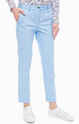 Голубые укороченные чиносы Gant. Цвет: голубой