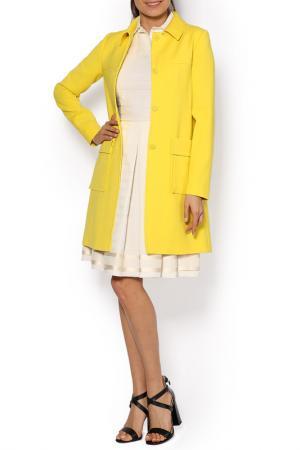 Пальто Jil Sander Navy. Цвет: желтый