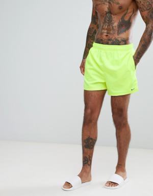 Nike Желтые короткие шорты для плавания Volley NESS8509-737. Цвет: желтый