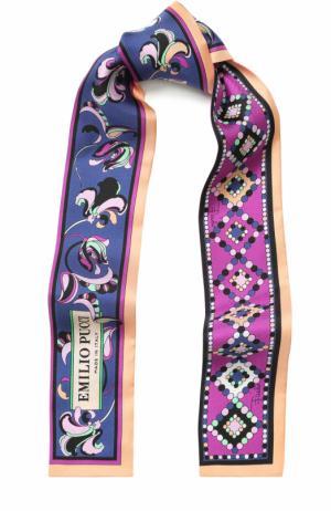 Шелковый шарф-бандо с принтом Emilio Pucci. Цвет: лиловый