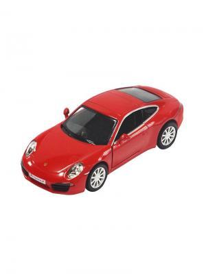 Машинка Инерционная Porsche 911 Carrera S, Красная (1:32) (PS-554010-R) Pit Stop. Цвет: красный