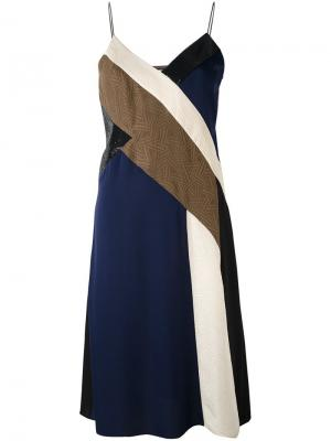Платье дизайна колор-блок Dvf Diane Von Furstenberg. Цвет: коричневый