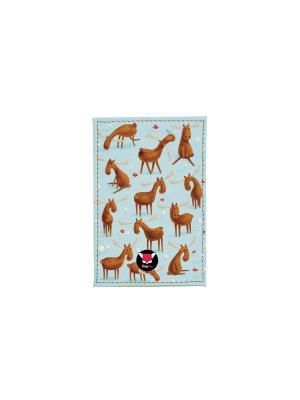 Чехол для проездного Лосики TonyFox. Цвет: голубой, синий, коричневый