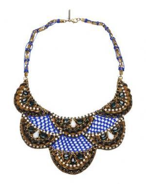 Ожерелье DEEPA GURNANI. Цвет: синий