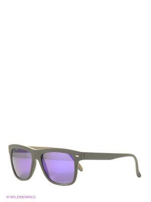 Солнцезащитные очки TOUCH. Цвет: черный, бежевый