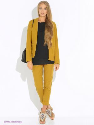 Куртка Sisley. Цвет: золотистый, бронзовый, светло-оранжевый