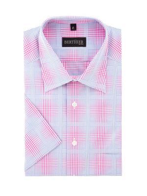 Рубашка BERTHIER. Цвет: голубой, розовый