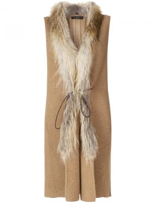 Пальто-жилет Fabiana Filippi. Цвет: коричневый