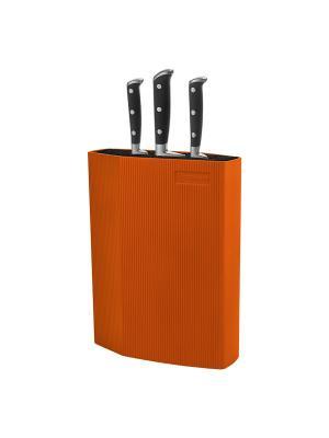 Подставка для ножей Rondell RD-470. Цвет: оранжевый