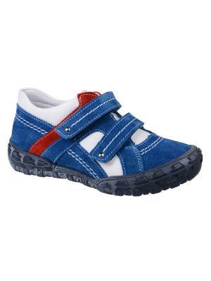 Ботинки Тотто. Цвет: синий, белый, красный