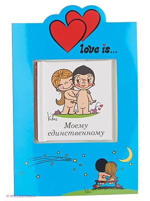 Love is. Моему единственному (книга+открытка) Эксмо. Цвет: белый