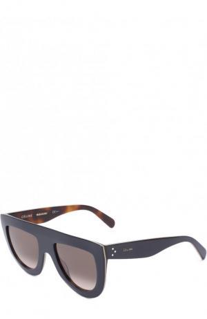 Солнцезащитные очки Céline Eyewear. Цвет: темно-синий