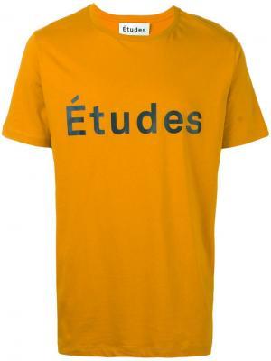 Футболка Page Etudes Études. Цвет: жёлтый и оранжевый