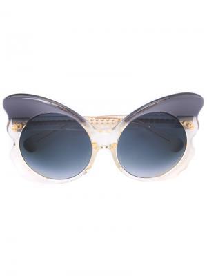 Солнцезащитные очки Matthew Williamson. Цвет: серый