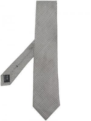 Галстук с узором Tom Ford. Цвет: серый
