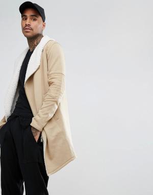 Black Kaviar Байкерское пальто с подкладкой из искусственного меха. Цвет: коричневый