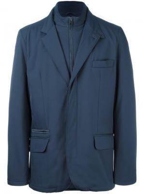 Куртка на молнии с высокой горловиной Loro Piana. Цвет: синий