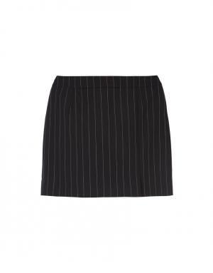 Шерстяная юбка Bella Freud. Цвет: черный, серый