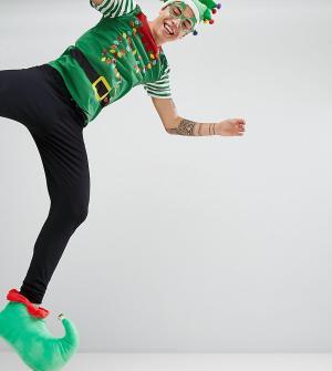 SSDD Новогодний пижамный комплект в виде эльфа. Цвет: зеленый