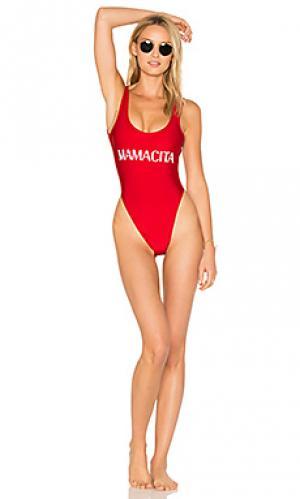 Слитный купальник mamacita Private Party. Цвет: красный